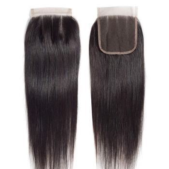 Cheap grade 10a human hair lace closure straight wave unprocessed virgin hair closure