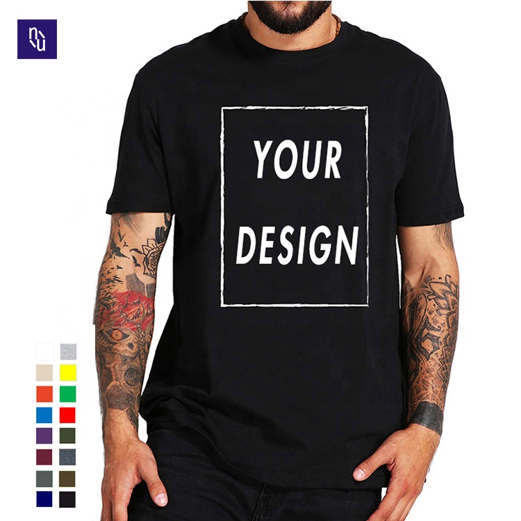 wholesale graphic tees unisex blank black T <strong>shirts</strong> in bulk logo printed 100% Cotton plain T-<strong>shirt</strong>