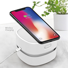 Portable Built-in 1400mAh USB Rechargeable Computer Car Home Dust Sweeper Mini Desktop Vacuum Cleaner with Wireless Charger