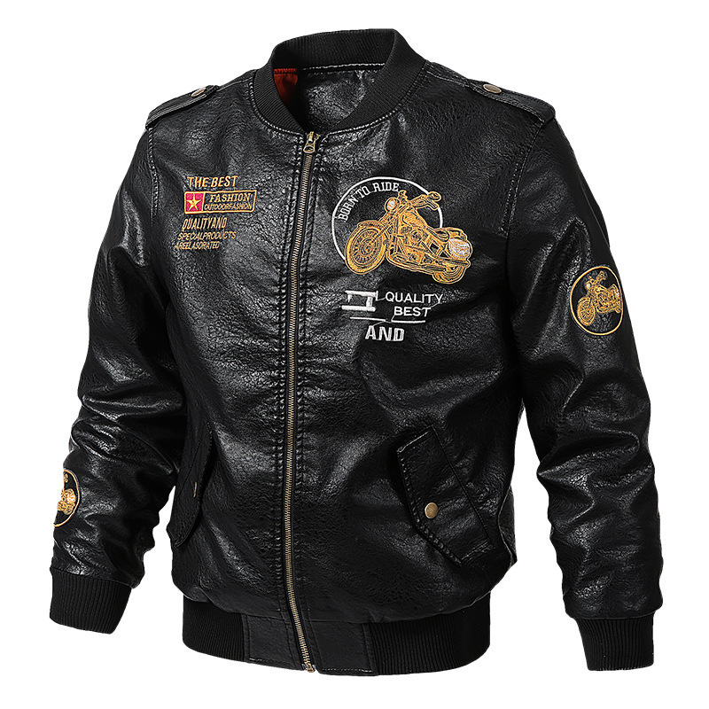 Hot <strong>Style</strong> Handsome Confidence Exciting Motorcycle Leather Custom <strong>Military</strong> <strong>Jackets</strong> For Men