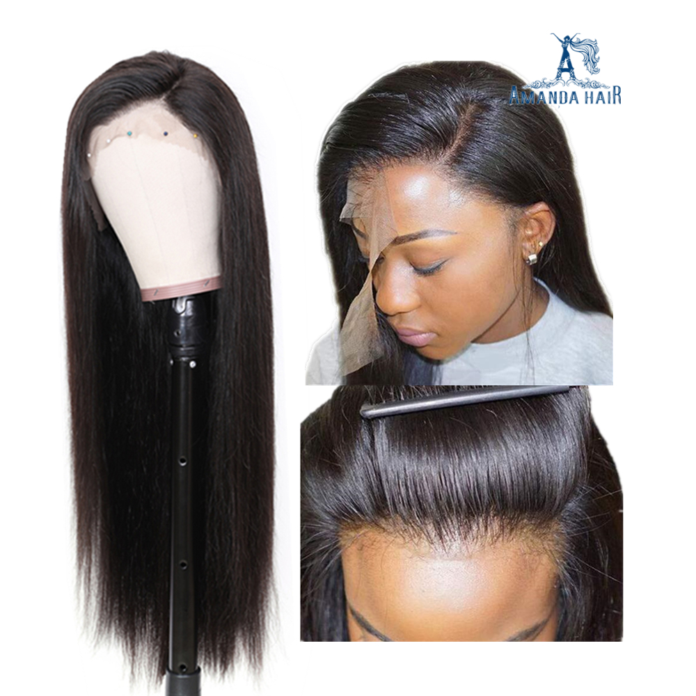 100% Brazilian Virgin Unprocessed Raw Human Hair Full Lace Wigs