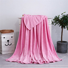 Custom order large size pink flannel throw Polyester blanket for Bedding