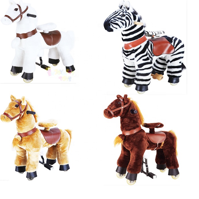 Hot EN71 mechanical horse toy <strong>electric</strong> horses ride toy horse on wheel for sale