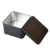 Black Square Vintage Tin Can Black Metal Square Chocolate Tin Box