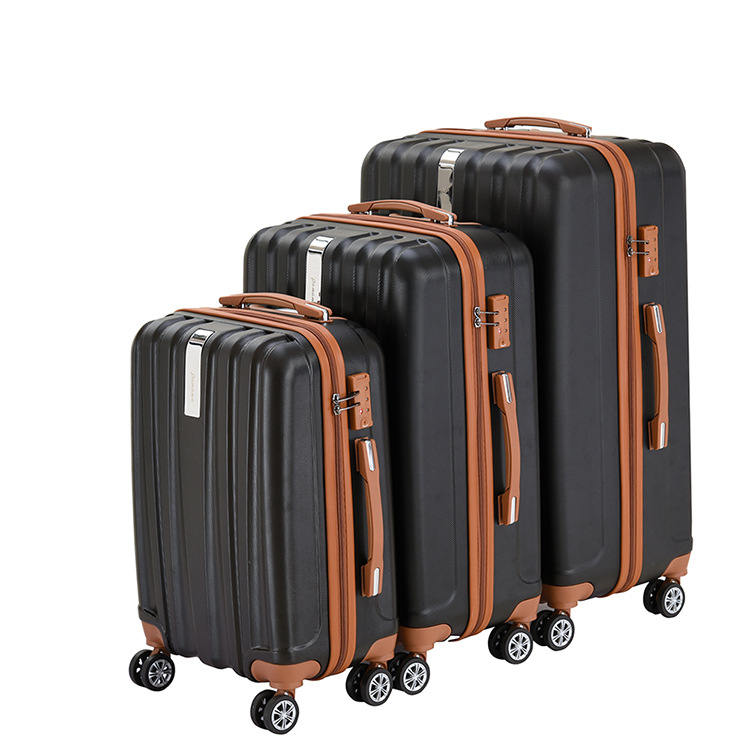 "Wholesale Customized 20""24""28"" zipper TSA lock travel trolley bags suitcase 3 pcs ABS luggage sets"