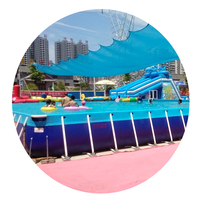 Wojin 2018 factory price large mobile outdoor above ground metal tube frame pvc swimming pool