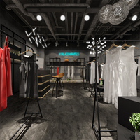 High-End Simple Fashion Style Clothing Shop Interior Display Furniture Design In Retail Shop