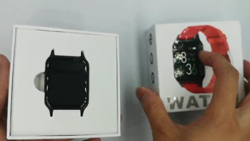 جديد شاشة عرض كبيرة مراقبة درجة الحرارة حزام ساعة ذكية مع ميزان الحرارة