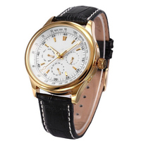 Mens Gold Automatic Watches Top Luxury Brand Clock Day Date Month Watch Movement