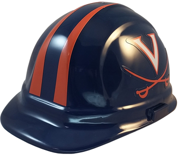 Virginia Cavaliers NCAA hardhat with Ratchet Suspension