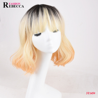 Rebecca Fashion synthetic wig hot sell synthetic lace front wig good quality wig lace