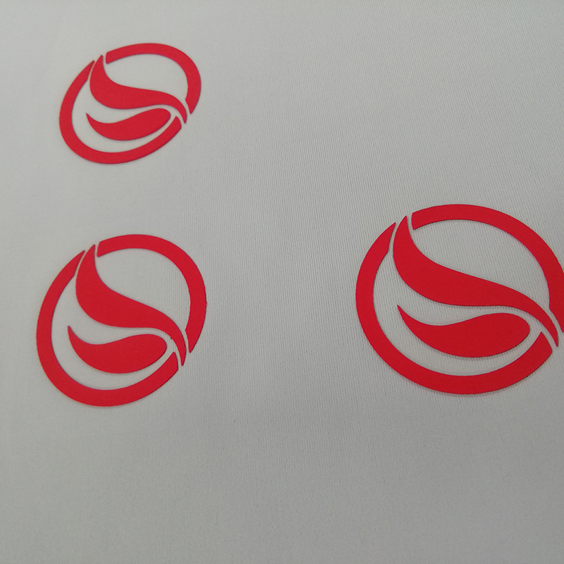 Red Yeco Thickness heat transfer logos and labels without reflective effect in 0.04-0.08mm