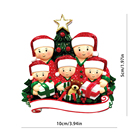 Family Ornament Personalized 2020 Personalized Tree Hanging Various Family Christmas Ornaments Quarantine Wholesale With Facemasks