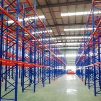 Industrial warehouse storage adjustable heavy duty upright beam steel pallet rack system