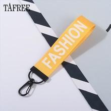 Tafree, модные, с буквами, ремешок, лямки, лента на шею, тканевый, para id, значок, держатель для телефона, брелок, сумка, автомобильный брелок(Китай)