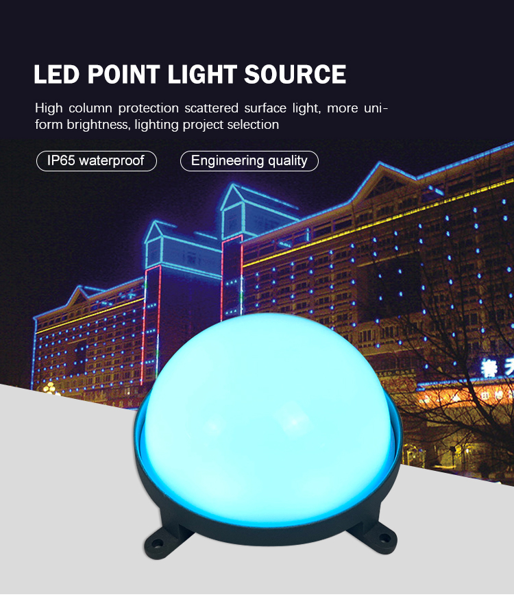 Outdoor Fasad Bangunan Dekoratif Lampu DC24V 120 Mm 5 W LED Pixel Point Light