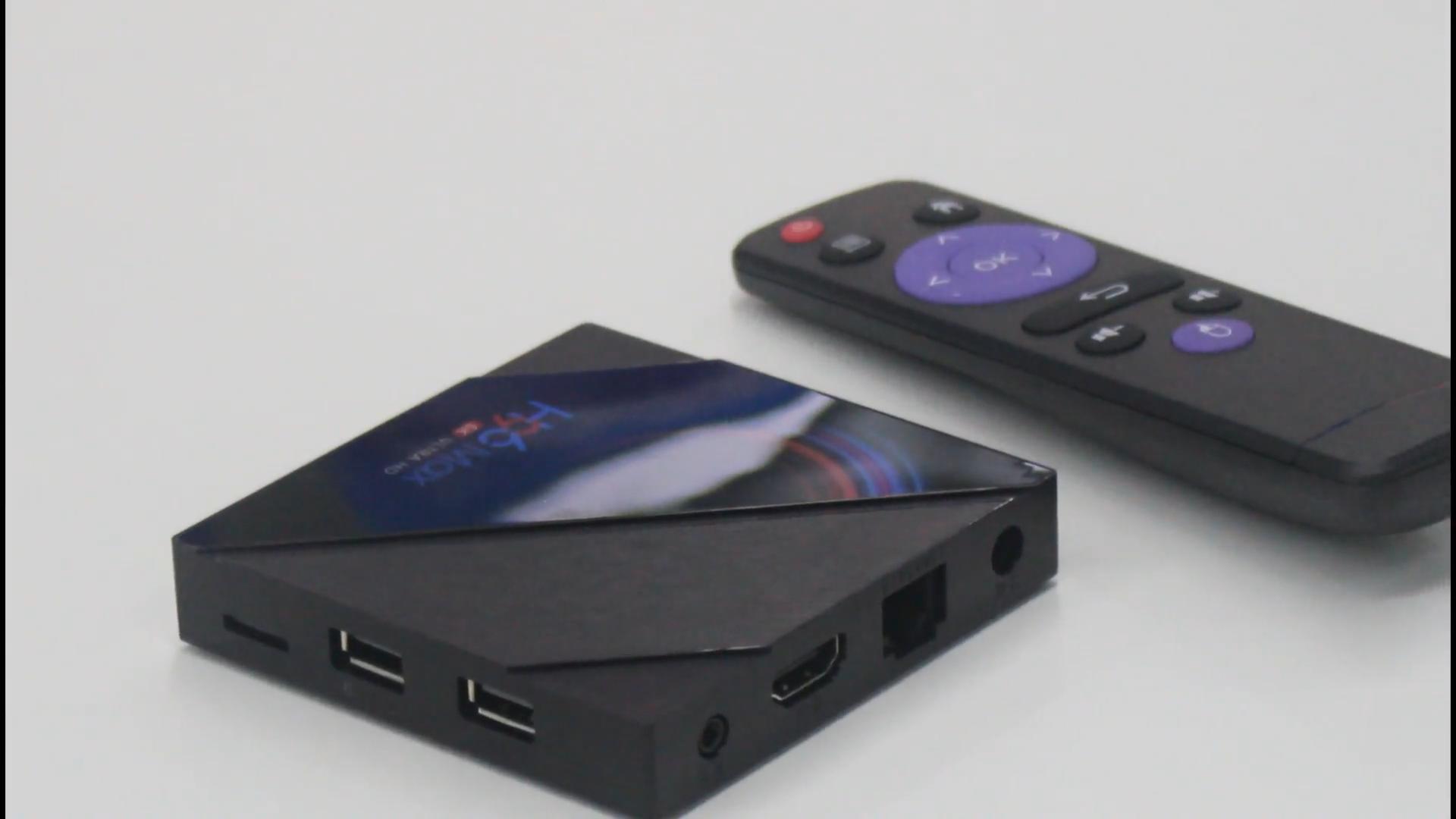 Internet set top box Kodi media player H96 Max H616 4K 6K android 10 smart TV Box with 2.4G / 5G WiFi
