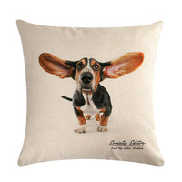 G&D New Year Pet Dog Homer Decor 45 * 45cm Dachshund Dog Pillow Covers