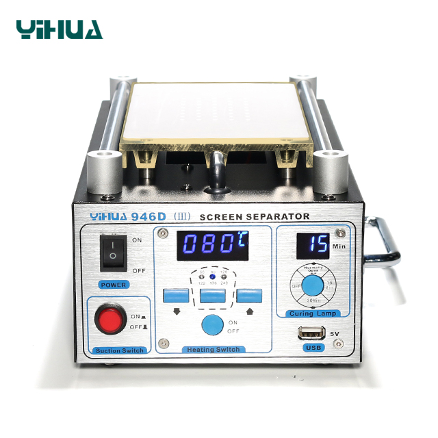 YIHUA 946D-III lcd touch screen glass separator machine to Repair Split Glass Touch Screen Digitizer