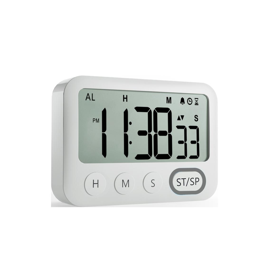 censhaorme LCD Digital de Cocina calculagraph de Cuenta atr/ás del Temporizador magn/ética del Soporte Trasero Tiempo de cocci/ón Contar hasta Despertador