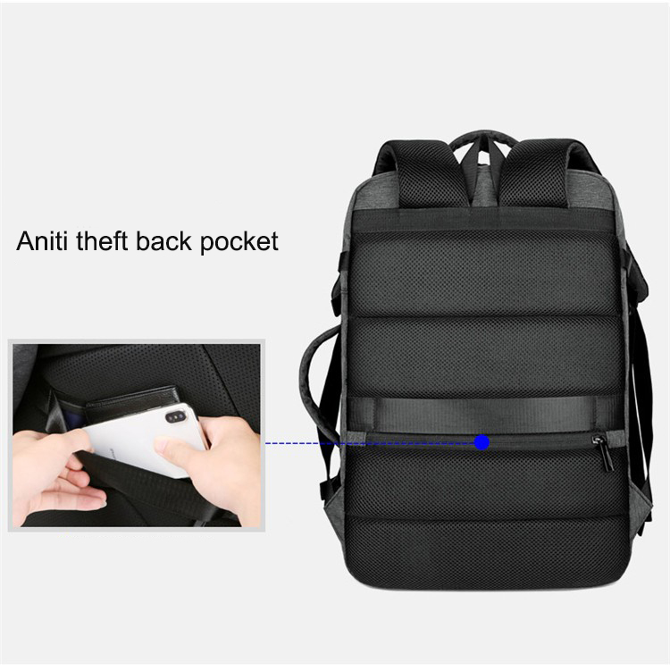 Accept Add Logo Convertible Carry Way 15.6 inch Laptop USB Charging Waterproof Men Business Travel Backpack