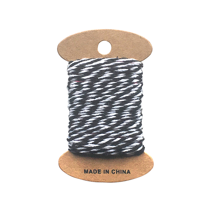 2020 New Design Lover Gift Packing Rope, Hot Sale Custom Printing Black And White Rope
