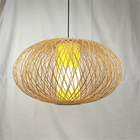 Design Decoration Beautiful Hanging Lampshade Handmade Design Bamboo Lamp Home Natural Decoration