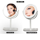 Rechargeable 8 Inch Double Sides Round Shape led vanity mirror lights Makeup Mirror with Stand