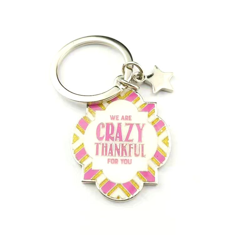 Unique shaped printing souvenirs Custom Enamel Logo Metal Keychain