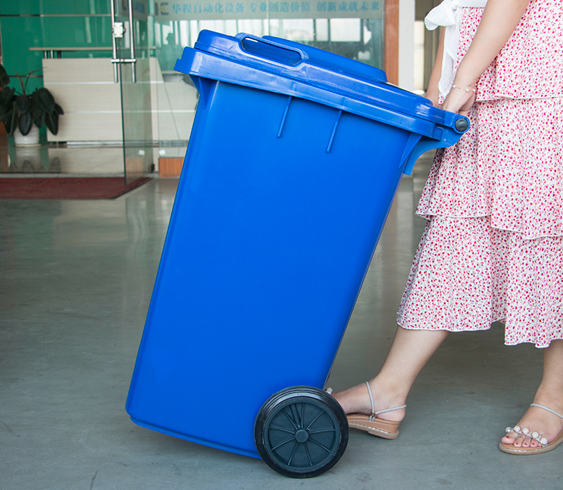 120L พลาสติก Wheelie รีไซเคิลถังขยะพร้อมฝาปิดสำหรับขาย