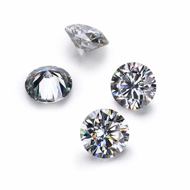 Round Brilliant cut moissanite stone White EF color vvs1 2 carat 8mm with factory price for diamond rings jewelry