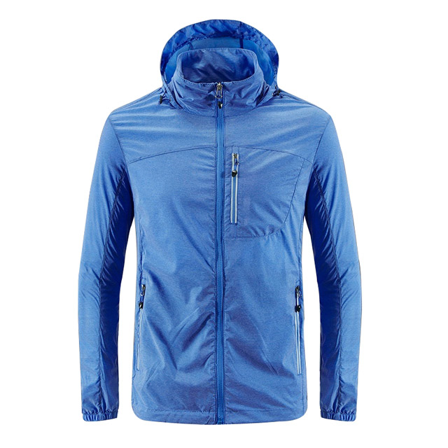 Men's Thin Outdoor Sports Running Wear  Breathable Wholesale Windbreakers Hooded Jacket