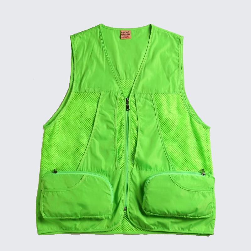 맞춤 남성 작업 패션 유틸리티 야외 폴리 에스터 멀티 포켓 인쇄 메쉬 조끼