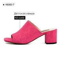 Donna-in распродажа, слиперы из натуральной кожи, женская летняя обувь, уличные женские шлепанцы на плоской платформе, пляжные шлепанцы(Китай)