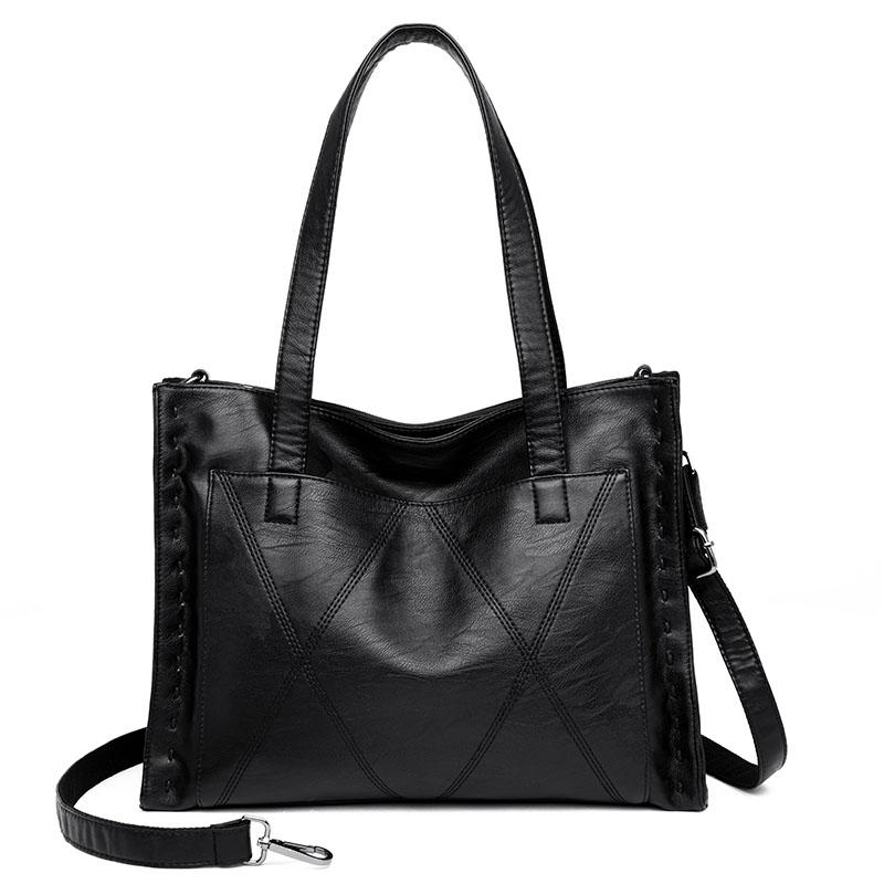 Yonder Брендовая женская сумка из натуральной кожи, женская сумка на плечо с большой емкостью, женская сумка, Высококачественная сумка из овчи...(Китай)