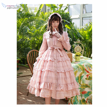 Cosplay Lolita dress princess daily tea party pink cute maid Student stage costume