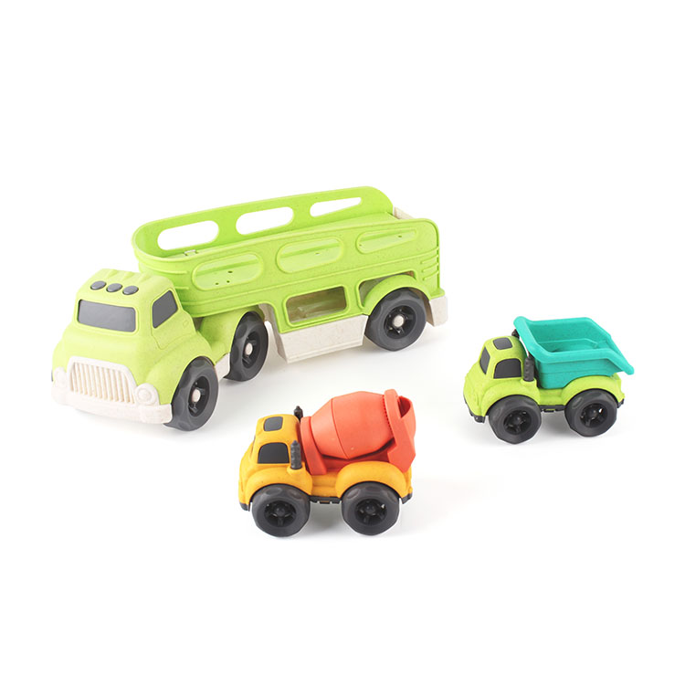 AS toys Bioplastic free wheel big truck with 2 small trucks for children kids