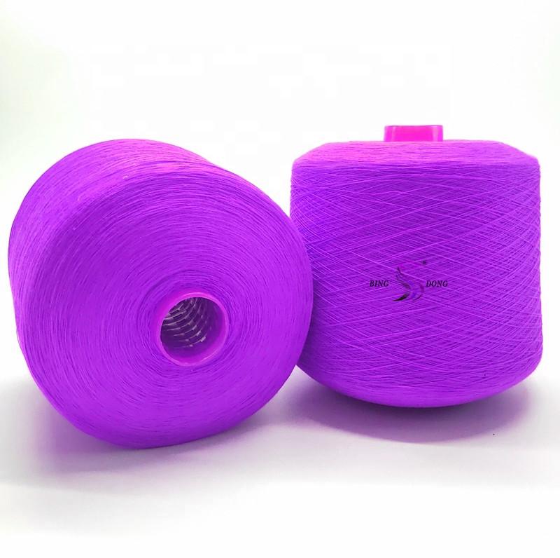 Nhuộm nâu 100% polyester spun sợi cho may