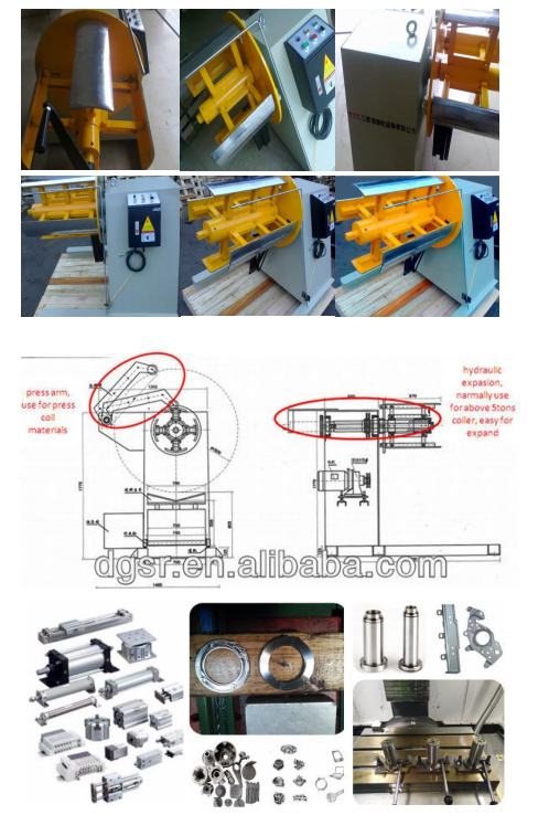 Heavy duty material rack sheet metal material decoiler industrial machine automation equipment
