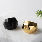 Jewelry Triangle Accept Oem Odm Craft Wolf Rings Jewelry Women Polygonal Triangle Big Ring For Mens