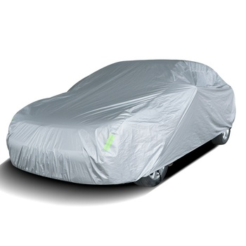 All Weather Customized 190T Polyester Silver Coated Car Cover for Mustang