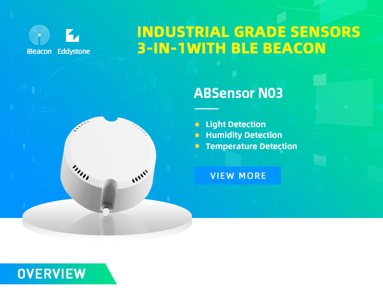 Temperature/Humidity/Light sensor iBeacon Eddystone URL /UID module ABSensor N03
