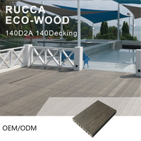 Rucca Plus WPC OEM/ODM Hollow Wood Plastic Composite Decking Outdoor Flooring