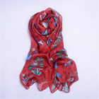 custom long different designs silk embroidery shawl