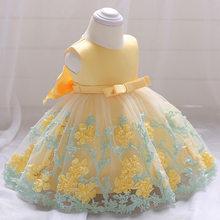 2020 г. Новое платье с цветочным узором для маленьких девочек летнее платье-пачка на свадьбу, день рождения, детские платья новый дизайн для вы...(Китай)