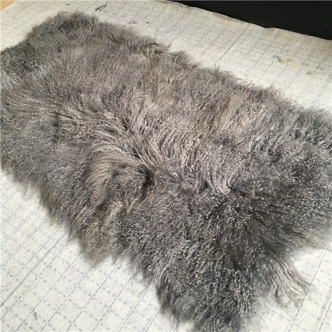 Mongolian fur long hair sheep carpet lamb plate