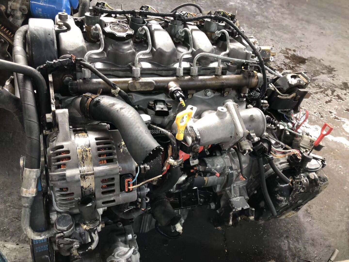 Free Shipping  USED GENUINE D4EB engine motor  in good condition used for Santafe