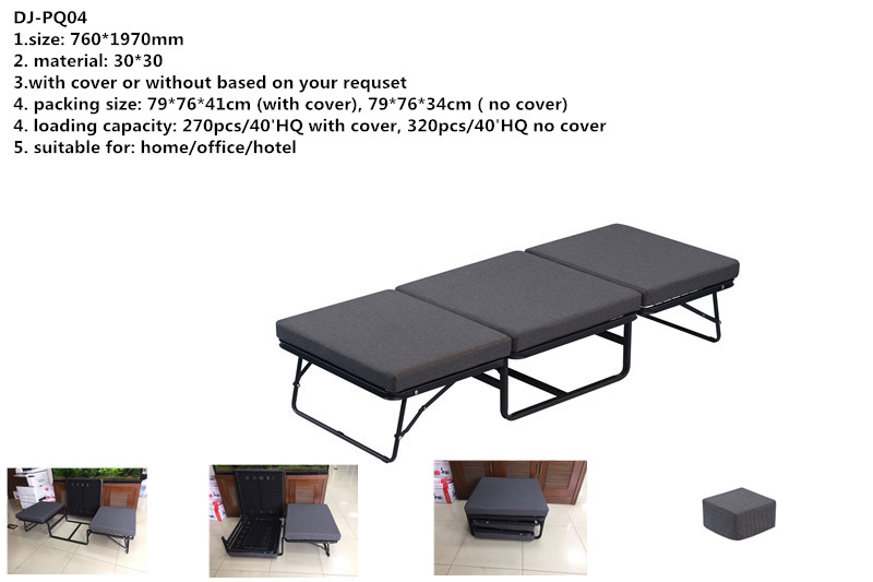 fast open foldable metal platform bed frame with storage