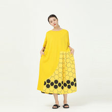 XITAO платье в горошек размера плюс Модный Новый женский пуловер Goddess Fan пуловер свободное повседневное стильное длинное элегантное платье ...(Китай)