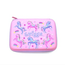 Wholesale Customise Soft Mesh Pocket Girls 3D Kids Zipper Eva Cute Unicorn Pencil Case For School